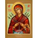 """Icoana Maicii Domnului cu şapte săgeţi, numită şi """"Îmblânzirea inimilor împietrite"""""""