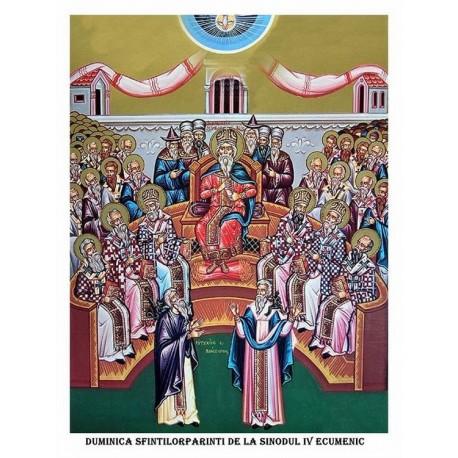 Icoana din Duminica Sfintilor Parinti de la Sinodul 4 Ecumenic
