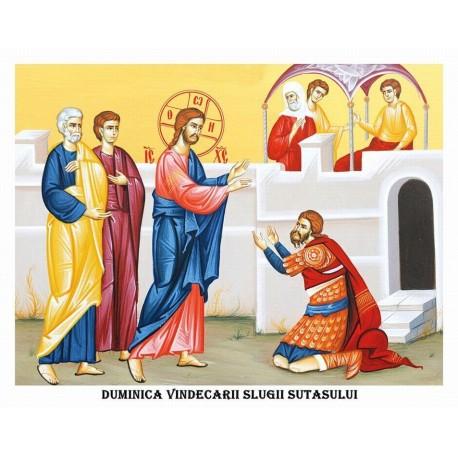 Icoana din Duminica Vindecarii Slugii Sutasului