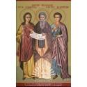 Icoana Sfintilor Mucenici Evlampie, Evlampia și Teofil