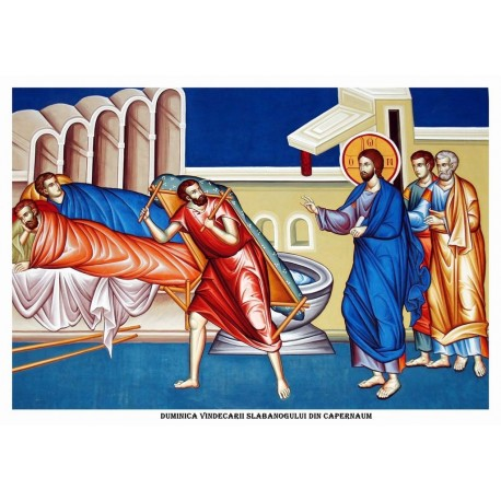 Icoana din Duminica Vindecarii Slabanogului din Capernaum