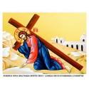 Icoana din Duminica dupa Inaltarea Sfintei Cruci - Luarea Crucii si Urmarea lui Hristos