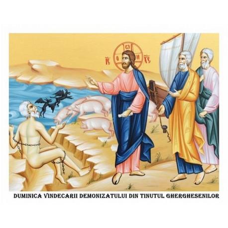 Icoana din Duminica Vindecarii demonizatului din tinutul Gherghesenilor