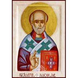 Sfantul Ierarh Nicolae - icoana pictata manual