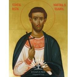 Icoana Sfantului Iustin Martirul si Filosoful