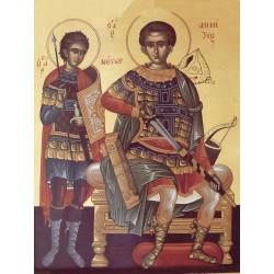 Icoana Sfintilor Dimitrie si Nestor