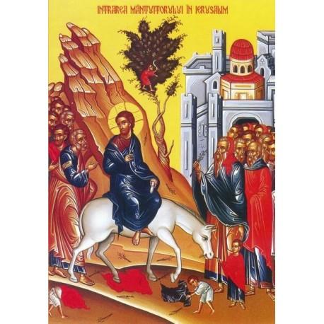 Icoana la Intrarea Domnului in Ierusalim - Floriile