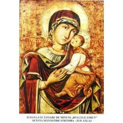 Icoana Maicii Domnului Facatoare de minuni Dulcele Sarut, de la Manastirea Stramba