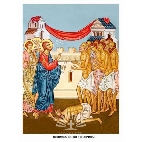 Icoana din Duminica Celor 10 Leprosi