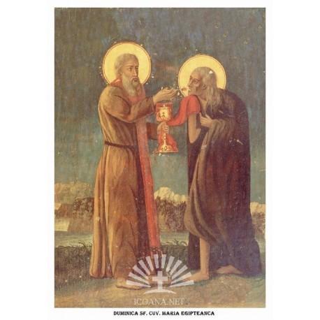 Icoana din Duminica Cuvioasei Maria Egipteanca