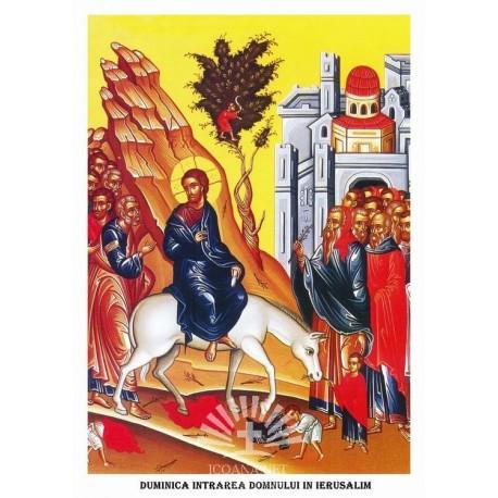 Icoana din Duminica Floriilor Intrarii Domnului in Ierusalim